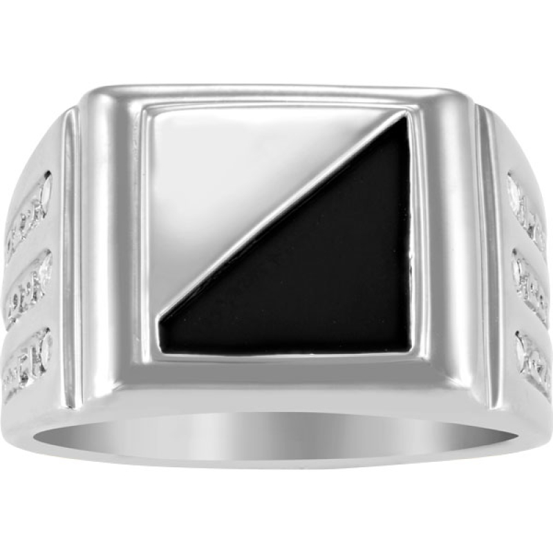 aacc3699d1 Dad's Onyx and Birthstone Initial Signet Ring by ArtCarved® (6 Stones,  Names and 1 Initial)